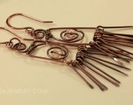 Retro Copper Fringe Dangle Earrings