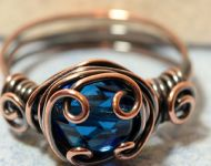 Victorian copper wire wrapped ring