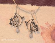 Moon and Stars Celestial Earrings