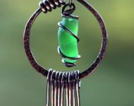 Sea Glass Pendant with Fringe